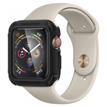 ỐP SPIGEN TOUGH ARMOR APPLE WATCH SERIES 5 / 4 (44MM) - ĐEN