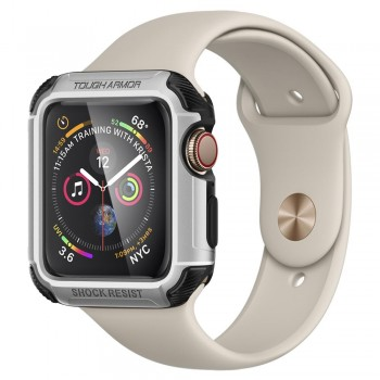 VỎ BẢO VỆ APPLE WATCH 44MM SPIGEN TOUGH ARMOR (BẠC)