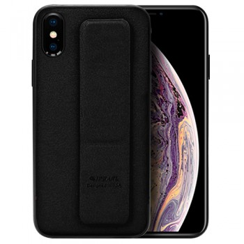 ỐP LƯNG IPHONE XS IPEARL LEATHER HAND GRIP CASE (ĐEN)