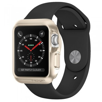 Vỏ Apple Watch 42mm Spigen Slim Armor Series 3/2/1 (Vàng)