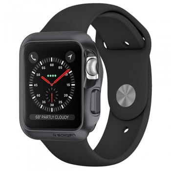 Vỏ Apple Watch 42mm Spigen Slim Armor Series 3/2/1 (Xám)
