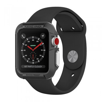 Vỏ Apple Watch 38mm Spigen Rugged Armor Series 3/2/1 (Đen)